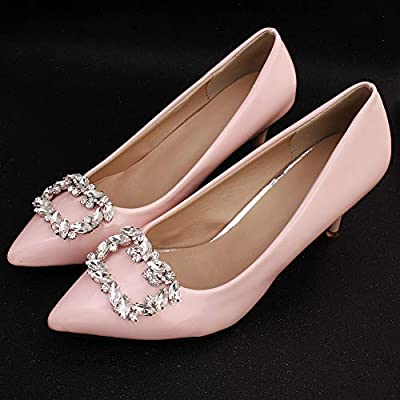 Bride Jewelry Shoe Buckle Accessories Fashion Square Horse Eye