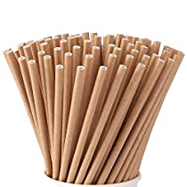 Alink 100 Pack Paper Drinking Straws Biodegradable Paper Straws for Juices, Shakes, Smoothies, Party Supplies Decorations
