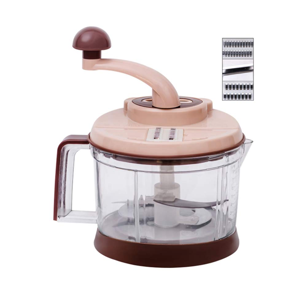DENGSH Vegetable Slicer,Household Hand-Operated Cutter,Multi-Function Manual Mincer Safety/As Shown by DENGSH