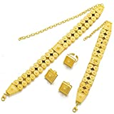 24K Gold Plated Choker Sets Ethiopian Eritrean Traditional Jewelry Accessories Bridal Wedding Sets