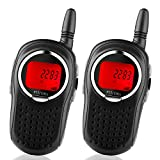 STOTOY Kids Walkie Talkies 22 Channel FRS VOX 2 Way 6KM Long Range Radio for Kids(1 Pair) (Black)