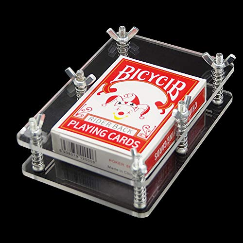 (Enjoyer Crystal Card Press-Crystal Card Flatten Restore Deformation Magic Tricks Stage Illusions Cards Magic Gimmick Magician Accessories )