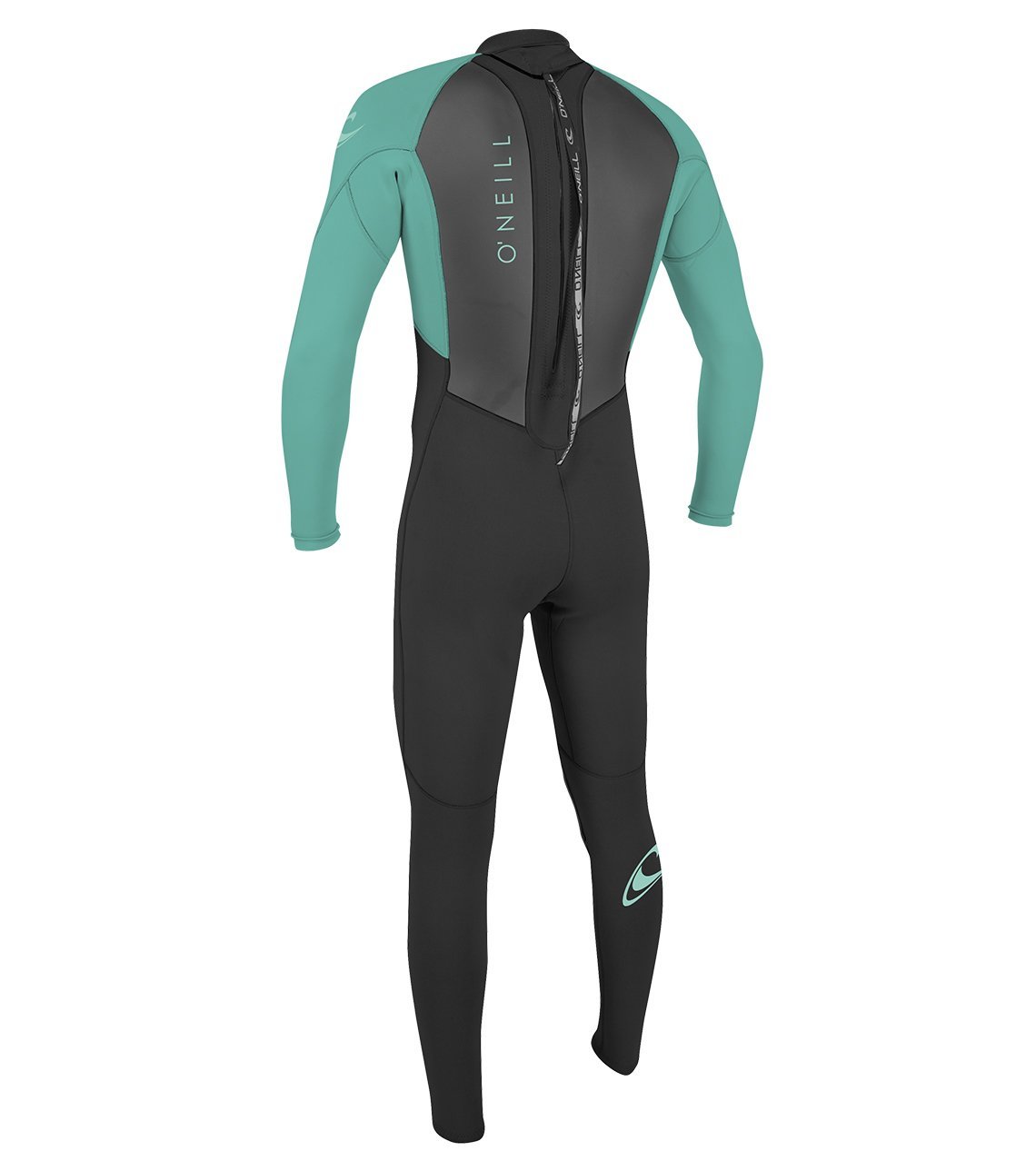 O'Neill Youth Reactor-2 3/2mm Back Zip Full Wetsuit, Black/Aqua, 6 by O'Neill Wetsuits (Image #3)