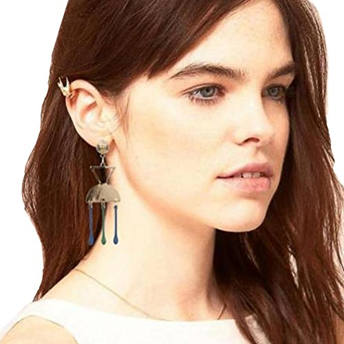 Geometric Tassel Earrings Inverted Triangle Earrings