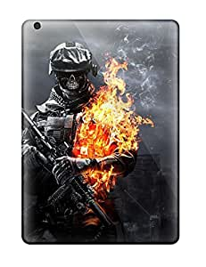 Pretty ZMY2006CJCd Ipad Air Cases Covers/ Battlefield Skull Soldier Series High Quality Cases