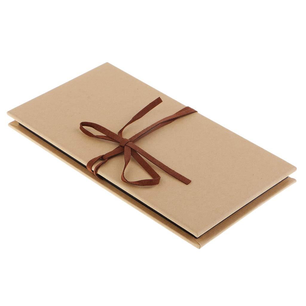 6inch Black Prettyia DIY Kraft Paper Scrapbooking Sketch Book Accordion Style Photo Album 16 Sheets /& Photo Corner Sticker Wedding Anniversary Scrapbook Baby Memory Album