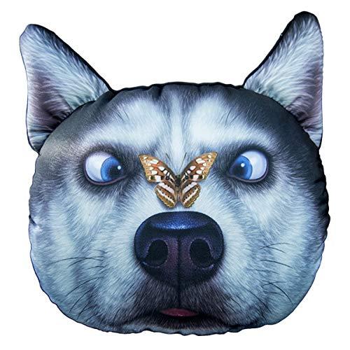 - Sangyn Car Headrest Pillow Husky Pet Dog 3D Head Neck Rest Pillow Cushion Memory Foam Travel Neck Support Car Seat Neck Pillows with Adjustable Strap for Driving (Husky Butterfly)