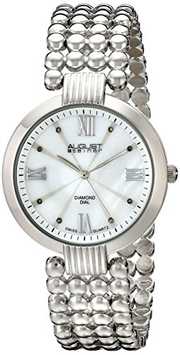 August Steiner Women's AS8065SS Diamond-Accented Watch