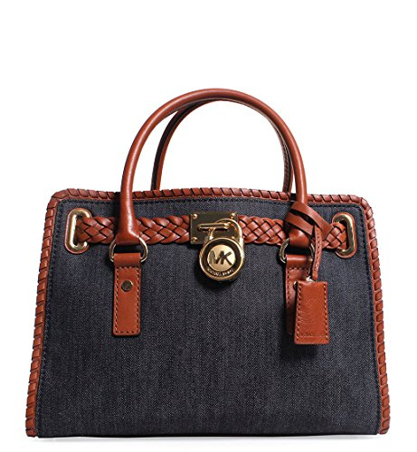 MICHAEL Michael Kors Whipped Hamilton East West Satchel Bag Denim Luggage