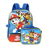Boys' Paw Patrol Backpack with Lunch, Blue/Red