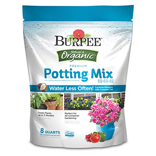 Burpee Organic Premium Potting Mix, 8 Quart (Price Pots Best Plant)