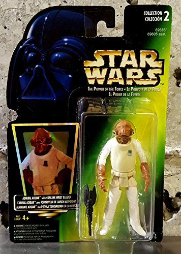 1997 Hasbro Star Wars Admiral Ackbar Figure - w/ Comlink Wrist Blaster