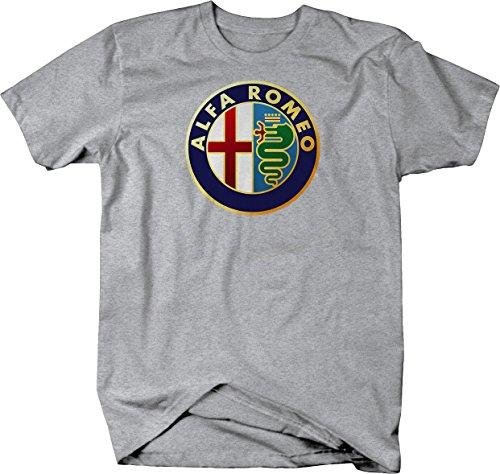 Alfa Romeo Emblem Logo Tshirt - Large Heather Grey