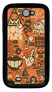 Lots Of Logos Custom TPU Case Cover for Samsung Galaxy Note 2/ Note II/ N7100 Black