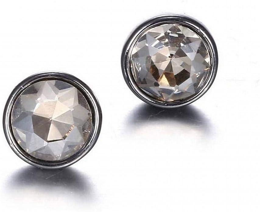 O&YQ Joyas de Moda Color de Moda Cristal Pendientes de Piedras Preciosas, Gris