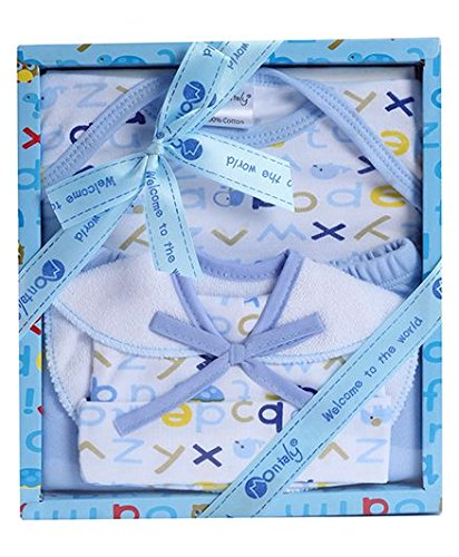 0d176fef8be Montaly Baby Gift Set Blue - Set of 4  Amazon.in  Baby