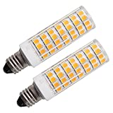 Qianled E11 led bulb Dimmable 100W Equivalent, Mini Candelabra base, 7W led replace 150W 100W 75W Halogen Light Bulbs, 3000K Warm White, 1000LM, LED Corn Bulb for Ceiling Fans Light (2 Pack)