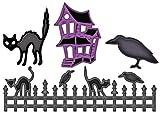 Spellbinders S4-280 Shapeabilities Halloween Fence Scenes and Shapes Die Templates