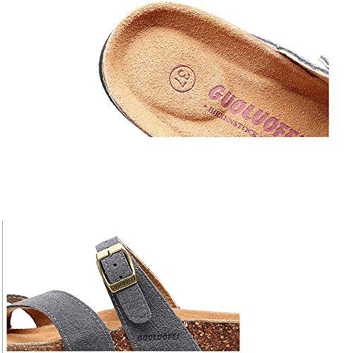 antiscivolo B 42 estate dimensioni Colore donna ZHANGRONG piatto punta piatto Pantofole sandali A wHPXxCz4q