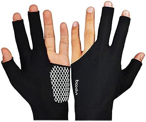 Aolvo - Guantes de billar para mano izquierda y derecha, 1 par ...