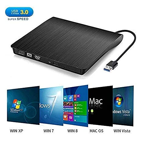 External CD DVD Drive, Dainty USB 3.0 Portable CD DVD +/-RW Drive