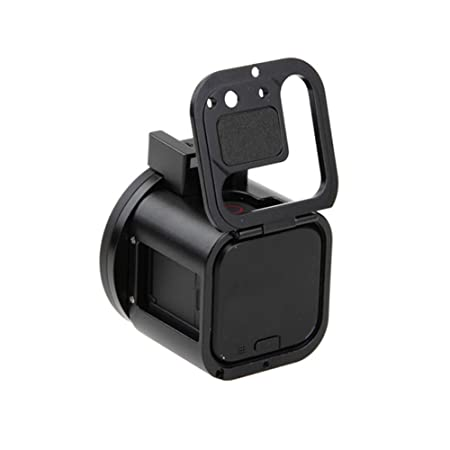 Meijunter Black CNC Aluminum Frame Protective Shell Housing Case Lens Cap Set for GoPro Hero 5//4 Session Camera UV Filter