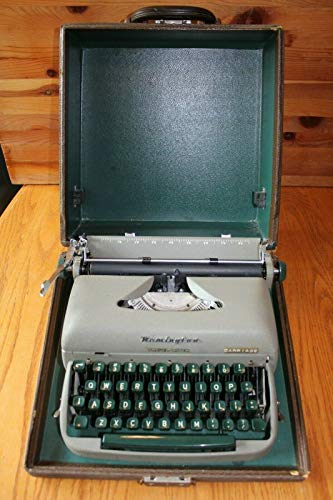 - Remington Travel-Riter Portable Typewriter Vintage w/Case