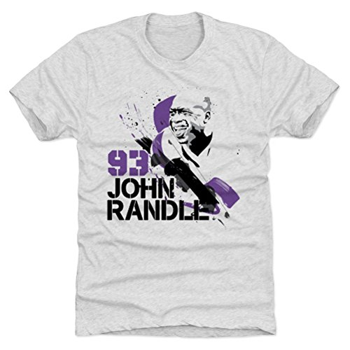 - 500 LEVEL John Randle Triblend Shirt XXX-Large Tri Ash - Vintage Minnesota Vikings Men's Apparel - John Randle Splatter P