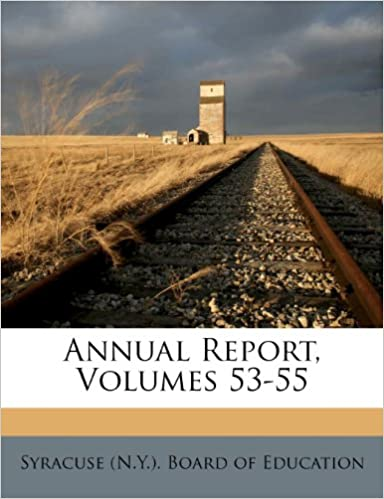 Book Annual Report, Volumes 53-55