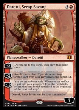 Magic The Gathering - Daretti, Scrap Savant (033/337) - Commander 2014
