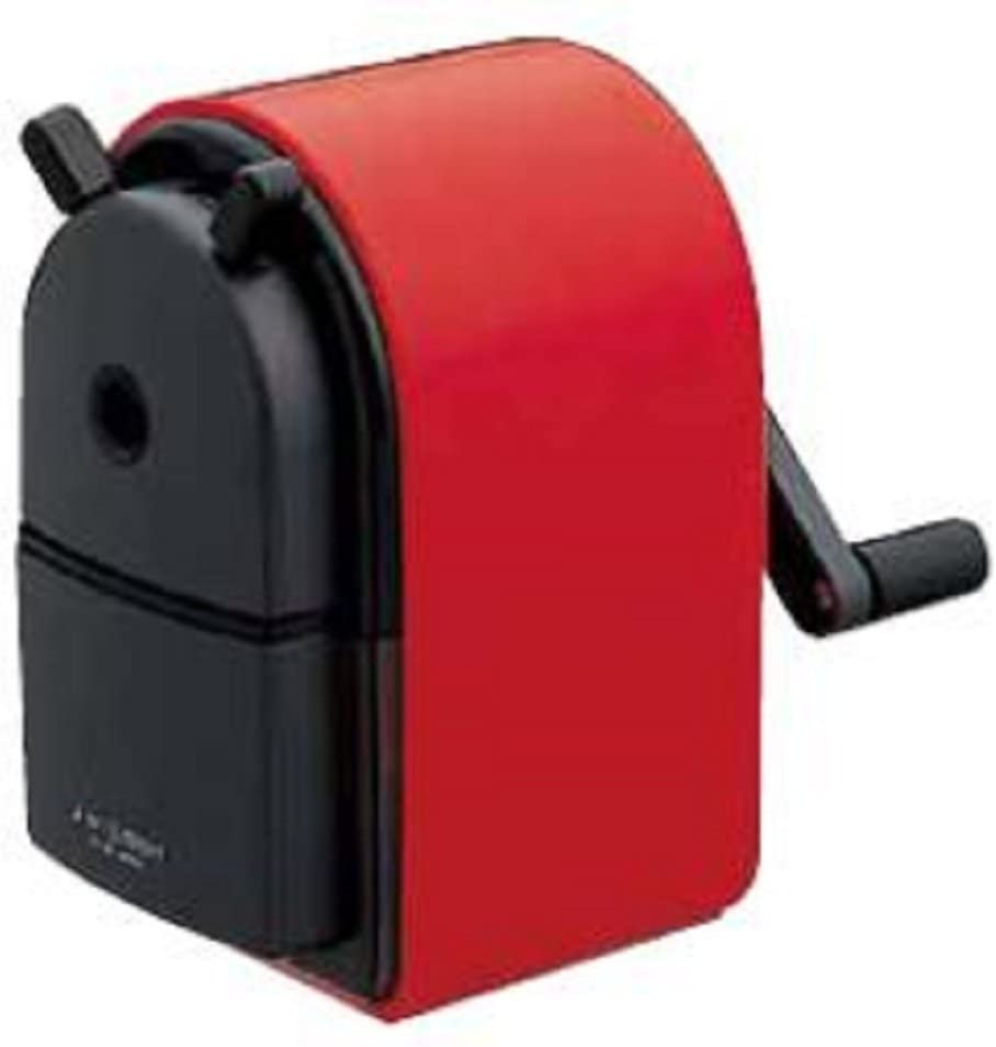 Uni KH-20 Hand Crank Wooden Pencil Sharpener - Red (japan import)