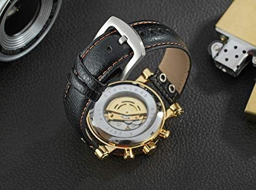 HWCOO Orologi meccanici, Orologio da uomo con cinturino meccanico completamente automatico da uomo WINNERD309 8