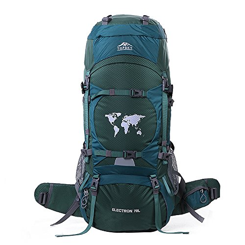 Hiking Backpack 70L Internal Frame Backpack Climbing Camping Backpack Outdoor Backpack Waterproof Mountaineering Bag Trekking Rucksack Large Travel Daypack with Rain Cover by OXKING