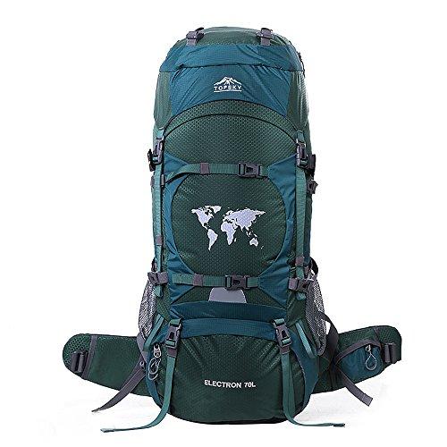 Topsky 70L Outdoor Sportarten Wandern Klettern Camping Rucksack Professionelle Bergsteigen Tasche Große Wasserdicht Trekking Reise Rucksack