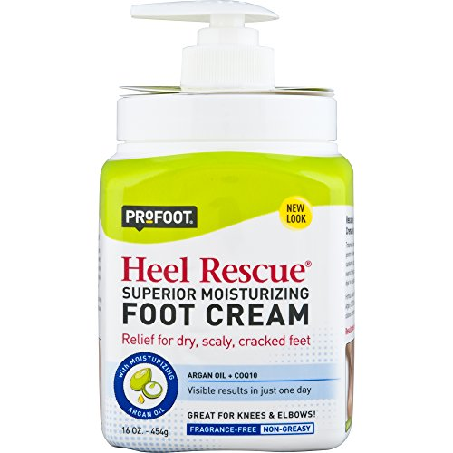 (PROFOOT Heel Rescue Foot Cream 16 oz, Non-Greasy Foot Cream Ideal for Cracked Skin Calloused Skin or Chapped Skin on Feet Heels Elbows and Knees, Penetrates Moisturizes and Repairs)