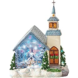 Miniature Fiber Optic Church Decoration