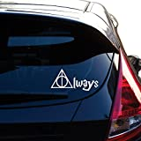 Always Harry Potter Decal Sticker for Car Window, Laptop, Motorcycle, Walls, Mirror and More. #446 (4' x 8.6', White)