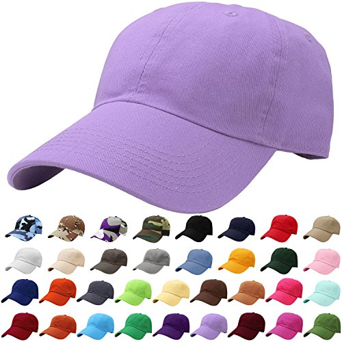 Falari Baseball Cap Hat 100% Cotton Adjustable Size Lavender 1827 (2' Smead Cap)