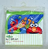 Sesame Street Bath Gift Set (Hooded Towel, 2 Washclothes and Terry Sponge), Health Care Stuffs