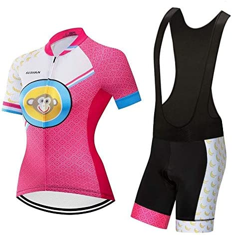 屋外速乾性半袖スポーツウェア半袖女性用サイクリングスーツ