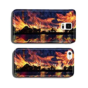 Fire at oil refining plant - abstract view. cell phone cover case Samsung S6