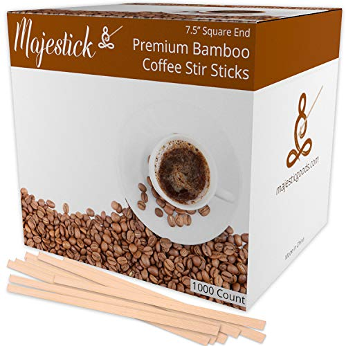 Bamboo Wooden Coffee Stir Sticks By Majestick | Eco-Friendly Wooden Coffee Stirrers | 7.5