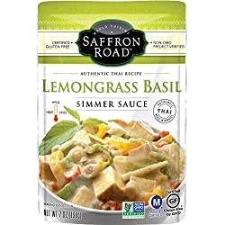 Saffron Road Simmer Sauce, Lemongrass Basil, 7 Ounce (Pack of 8)