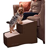 Pet Gear Easy Step 2-Step Pet Stairs for Cats and Dogs up to 150-Pound, Chocolate
