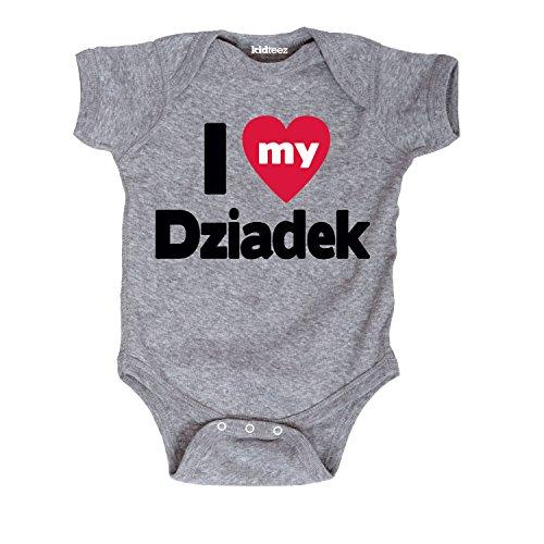 I Love My Dziadek -Infant One Piece-NB by Instant Message
