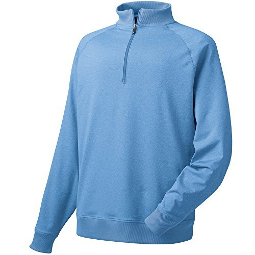 FootJoy Half-Zip Golf Pullover (Heather Light Blue, Small) by FootJoy