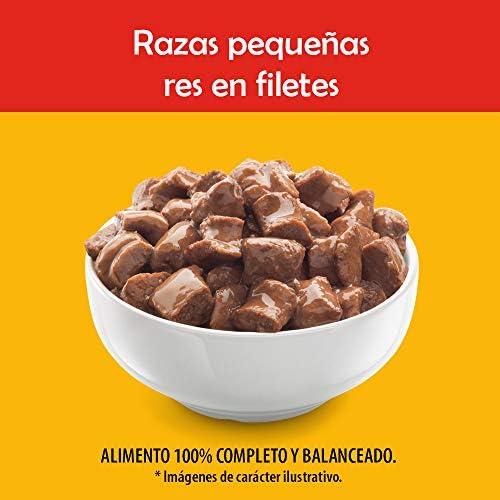 Pedigree Alimento Húmedo Razas Pequeñas Res en Filetes, paquete de 10 sobres 4