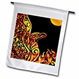 3dRose fl_23172_1 Phoenix Fantasy Fire Tribal Garden Flag, 12 by 18-Inch