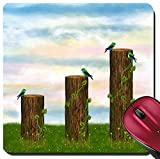 100 chart mat - Liili Suqare Mousepad 8x8 Inch Mouse Pads/Mat ID: 23753481 Statistics chart formed as tree trunks with birds Illustration digital art