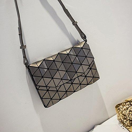 CJshop Damen Tasche Satchel Bag, Mini Handtasche, Weiblichen Handtasche Brief Paket, Weiblichen Beutel Geometrische Rhombus Tasche